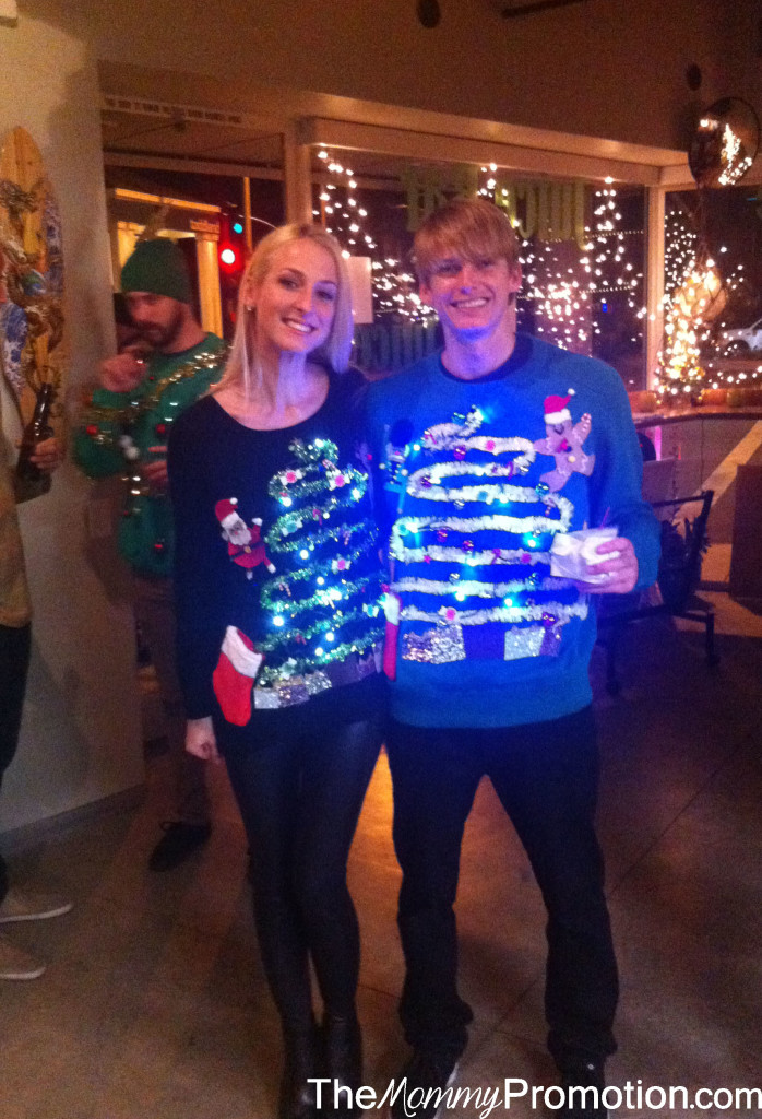 Beth and Kalen_Ugly Christmas Sweater_DIY_The Mommy Promotion