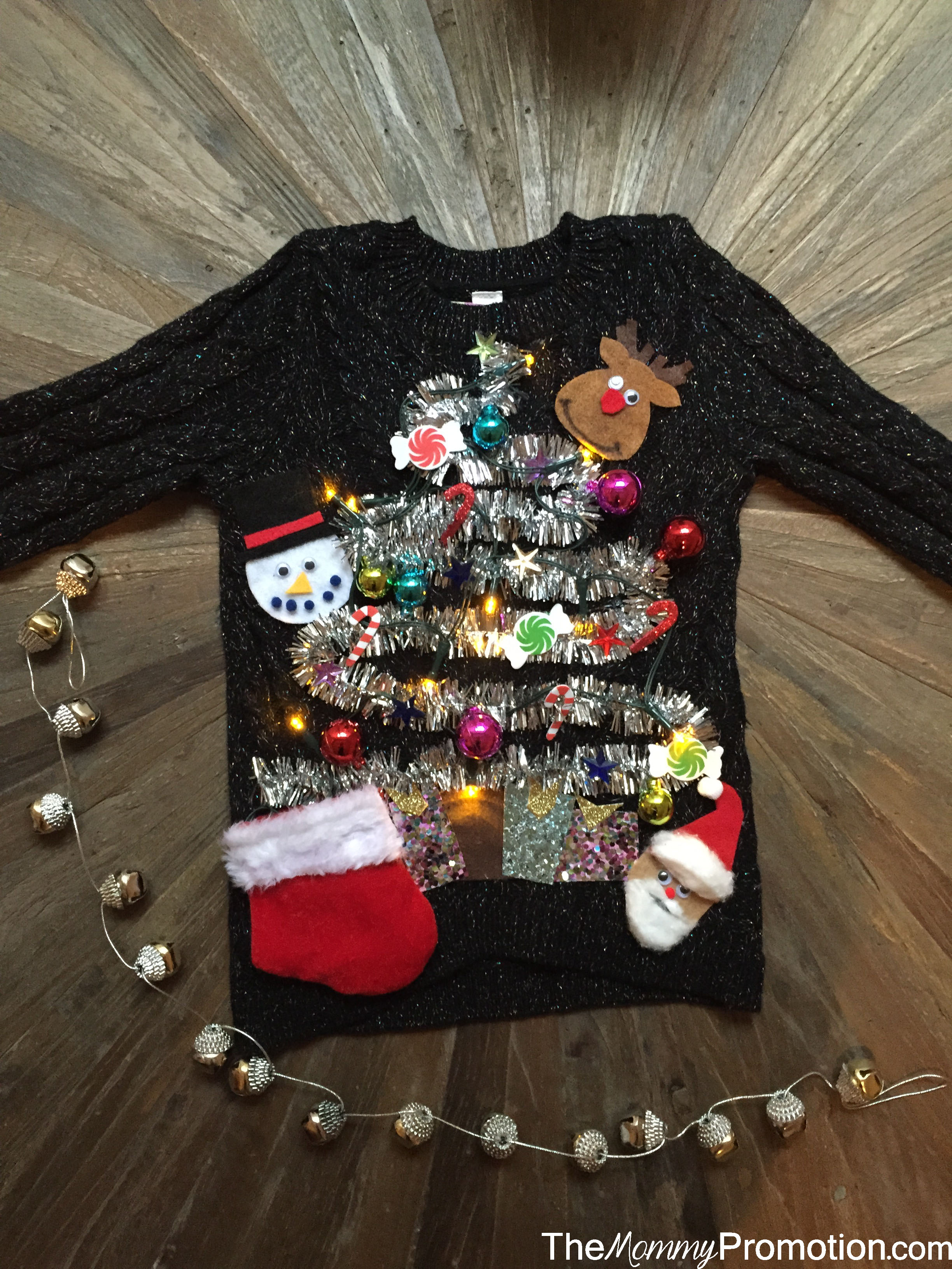 ugly christmas sweater_baby and kids_diy_the mommy promotion - How To Decorate A Ugly Christmas Sweater