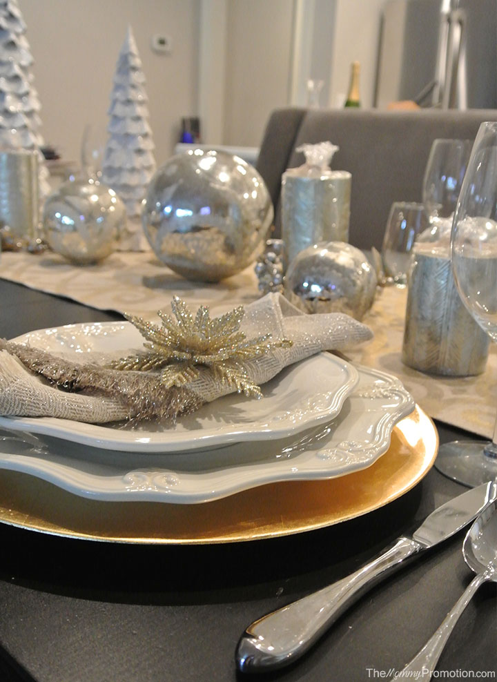 Gold and Silver Christmas Tablescape – featuring World Market decor ...