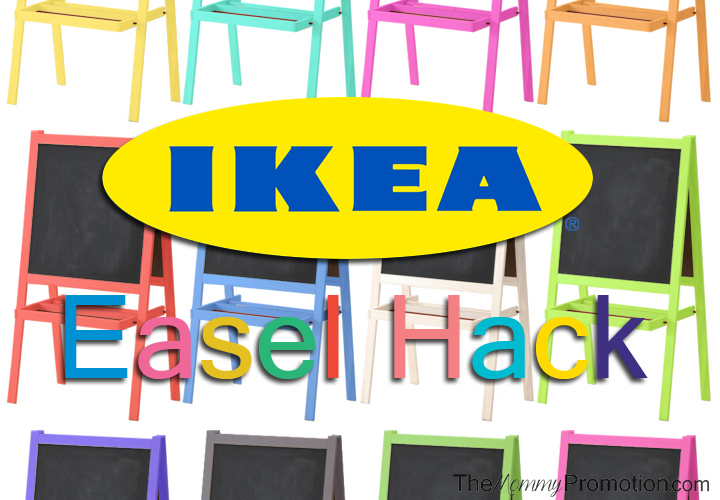 Ikea hack easel the mommy promotion for Magnetic board for kids ikea